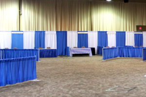 Trade Show Booth - Blue & White Image