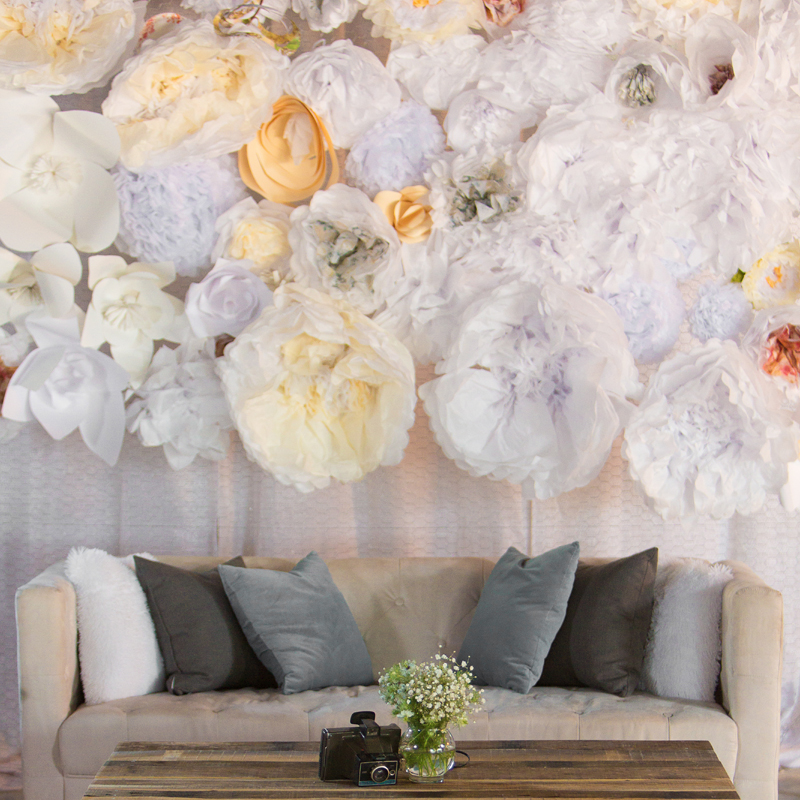 Shabby Chic Floral Backdrop Image