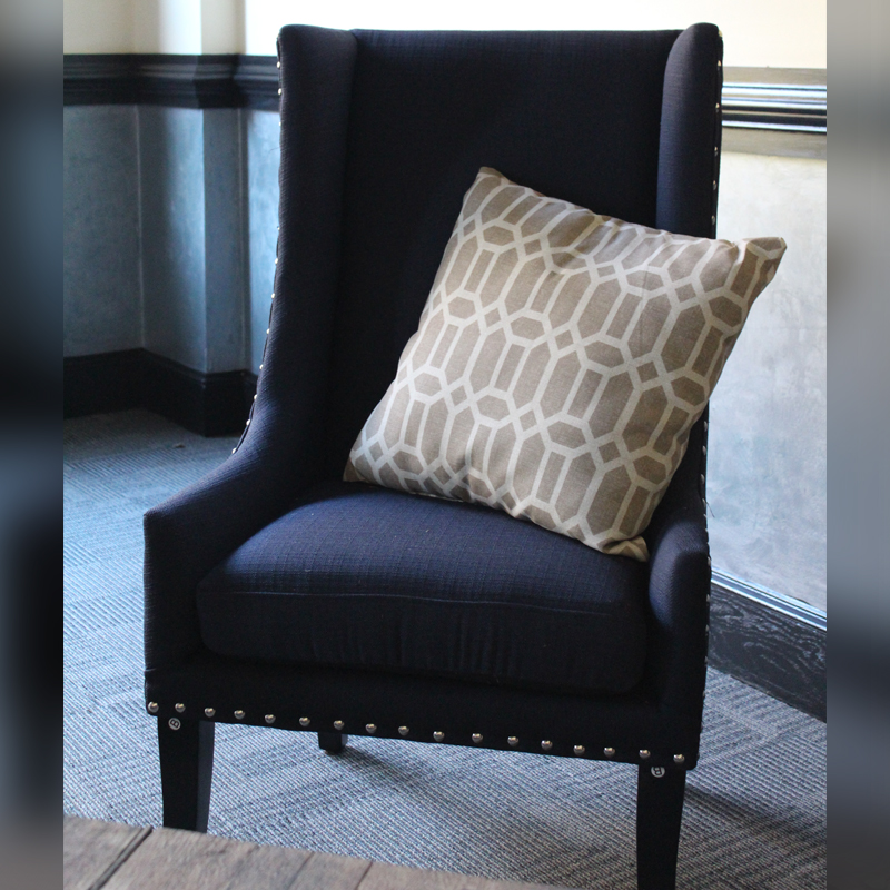 Wingback Chair - Navy Image