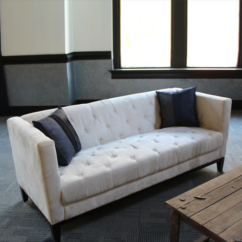 Tufted Comfort Couch - Cream Image