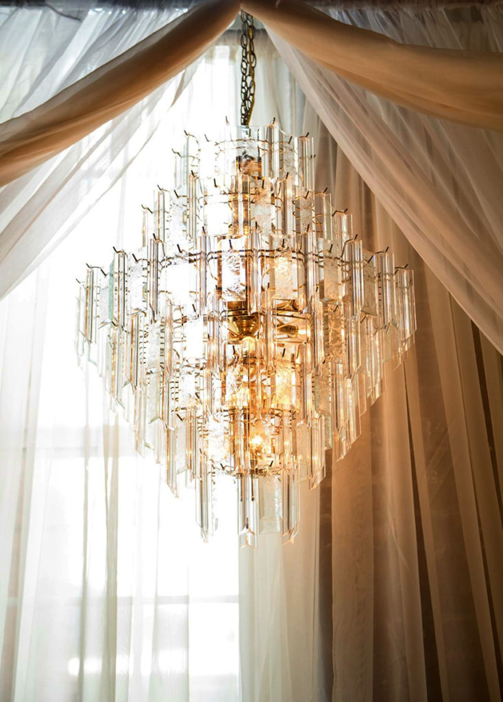 Gold & Glass Chandelier Image