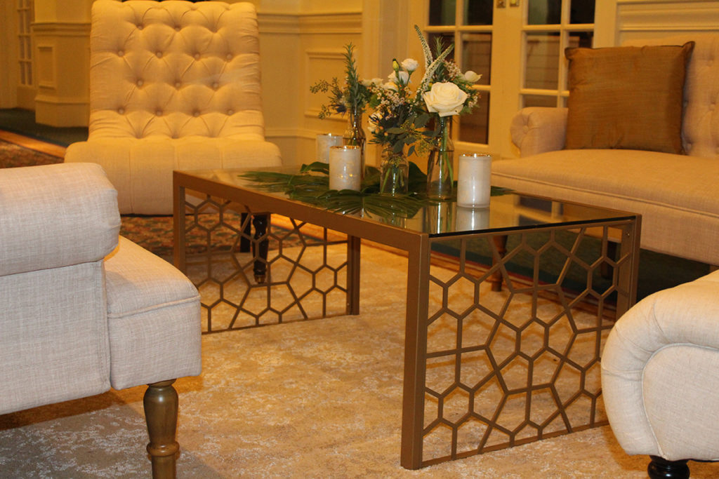 Gold & Glass Coffee Table Image