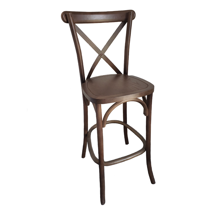 X Back Bar Stool (Natural) Image