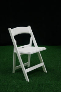 White Padded Folding Chair Image