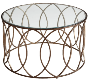Bronze Round Glass Coffee Table Image